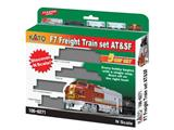 Kato 701066271 RE-RUN F7A Freight Train Starter Set 5-tlg., Spur N